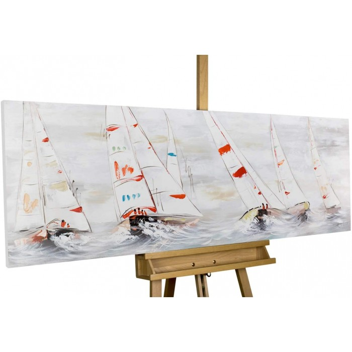 "TABLOU PICTAT MANUAL "" YACHTING""- ACRYLIC 150X50CM"