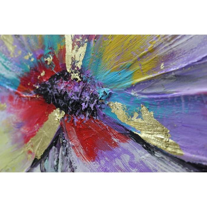 """TABLOU PICTAT MANUAL """" FLOWERS"""" - 140X70CM"""