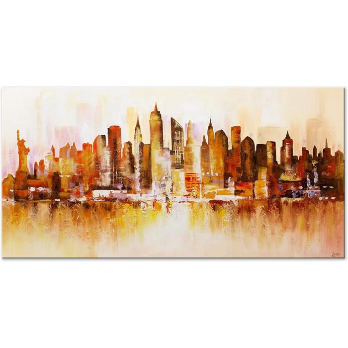 "TABLOU PICTAT MANUAL "" NEW YORK"" - 120X60CM"